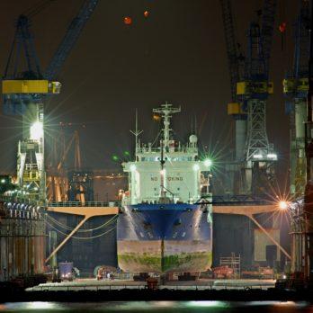 20,000 dwt graving dry dock