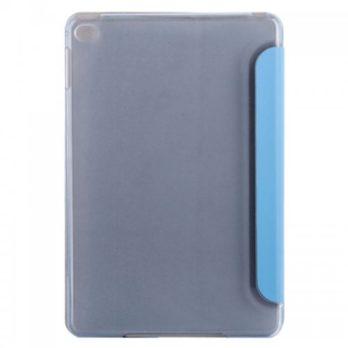 Slim PU Leather Magnetic Tri-Fold Smart Stand Cover Case for iPad Mini 4 – Blue