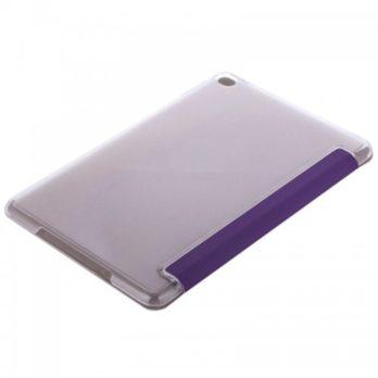 Slim PU Leather Magnetic Tri-Fold Smart Stand Cover Case for iPad Mini 4 – Purple