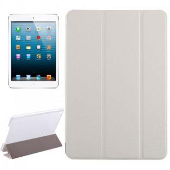 Slim PU Leather Magnetic Tri-Fold Smart Stand Cover Case for iPad Mini 4 – White