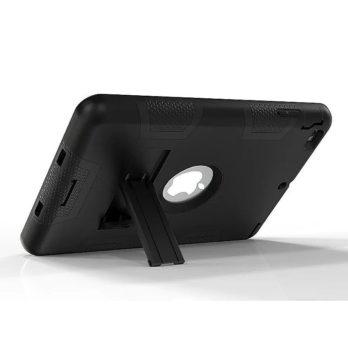 Robot Armor kickstand Shockproof Protective Case Cover for iPad Mini3 – Black + Black